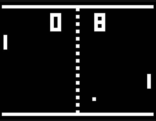Rozgrywka w grze Pong