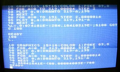 Uszkodzony program w Atari Basicu