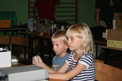 Dzieci grające na Atari