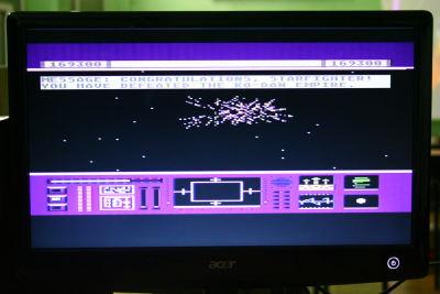 Ekran kończacy rozgrywkę w The Last Starfighter