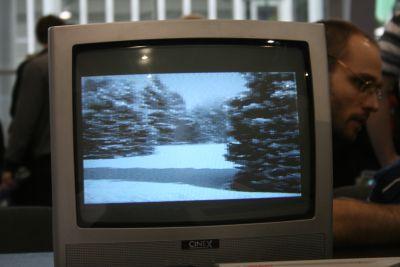 przyk&#322adowy obraz 3D na Atari XL/XE